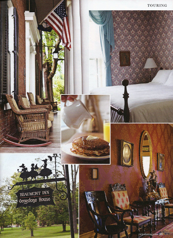 Beaumont Inn - Victoria Magazine